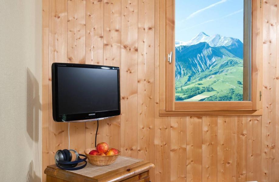 Аренда на лыжном курорте Les Chalets de la Fontaine - Saint Jean d'Arves - Телевизор с плоским экраном