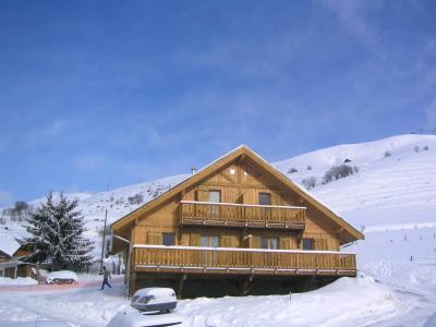 Vacances en montagne Les Chalets de la Fontaine - Saint Jean d'Arves - Extérieur hiver