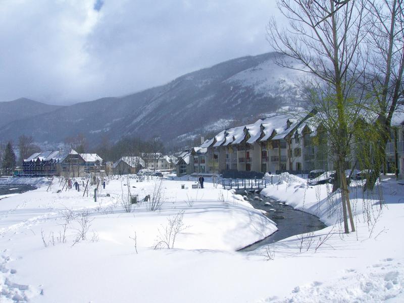 Location au ski Résidence Lagrange l'Ardoisière - Saint Lary Soulan - Extérieur hiver