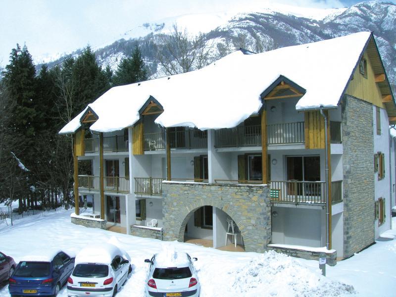 Urlaub in den Bergen Résidence Lagrange l'Ardoisière - Saint Lary Soulan - Draußen im Winter