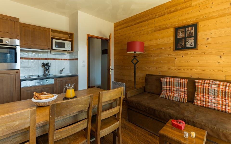 Location au ski Résidence Lagrange les Chalets de l'Adet - Saint Lary Soulan - Cuisine ouverte