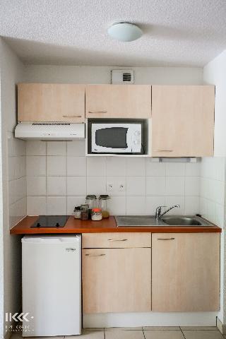 Wynajem na narty Apartament 2 pokojowy kabina 6 osób - Résidence les Balcons de la Neste - Saint Lary Soulan - Kuchnia otwarta