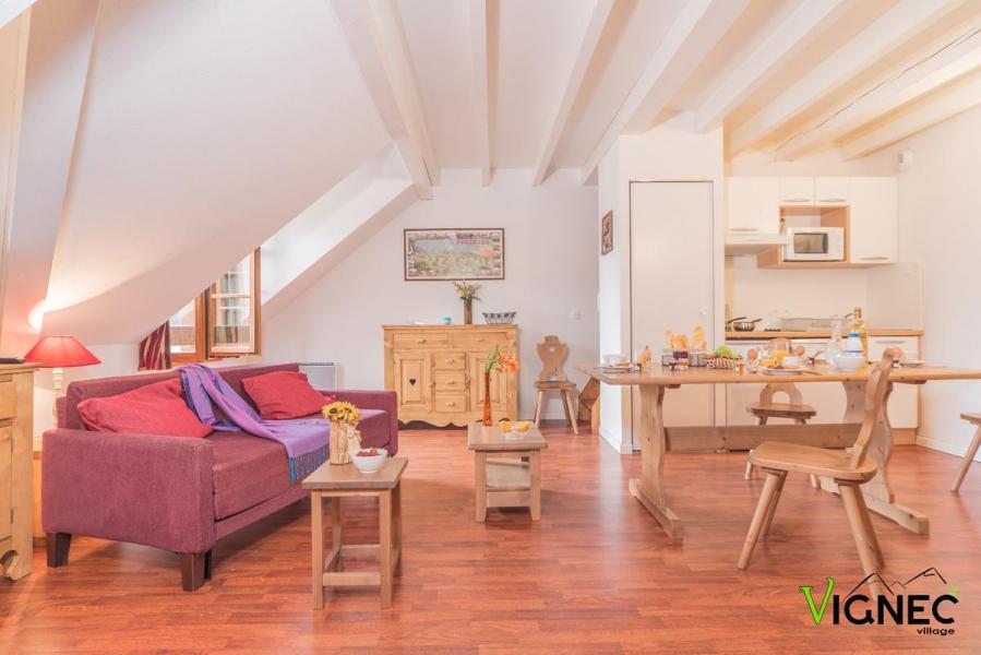 Location au ski Résidence Vignec Village - Saint Lary Soulan - Séjour