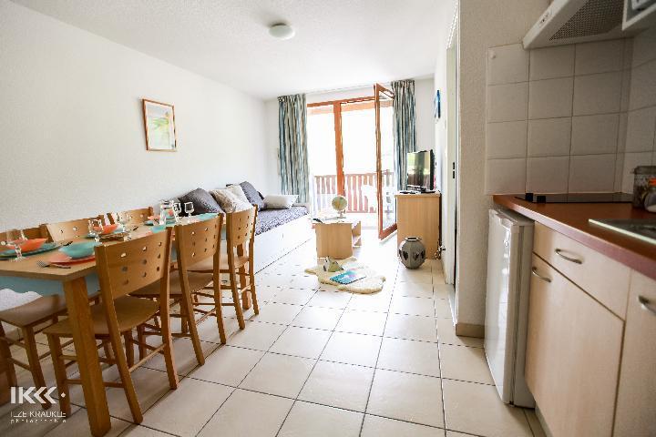 Location au ski Appartement 2 pièces cabine 6 personnes - Residence Les Balcons De La Neste - Saint Lary Soulan - Salle à manger