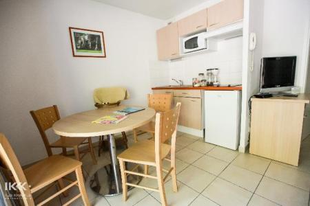 Location au ski Studio cabine 4 personnes (avec balcon) - Residence Les Balcons De La Neste - Saint Lary Soulan - Salle à manger