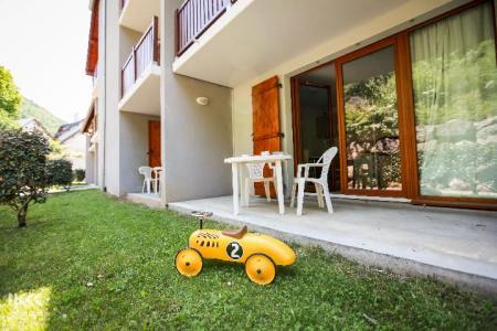Location au ski Studio cabine 4 personnes (avec balcon) - Residence Les Balcons De La Neste - Saint Lary Soulan - Terrasse-jardin