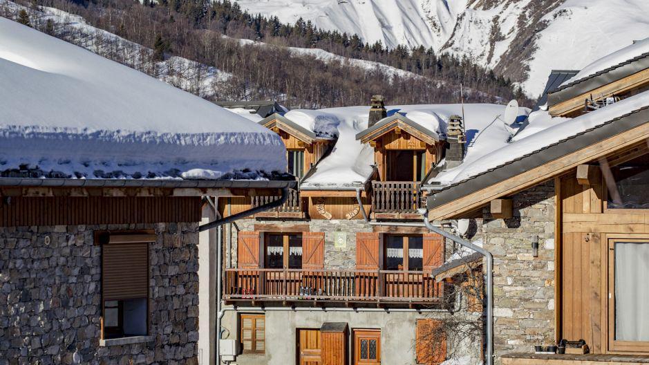 Vacances en montagne Chalet Balcons Acacia - Saint Martin de Belleville - Extérieur hiver