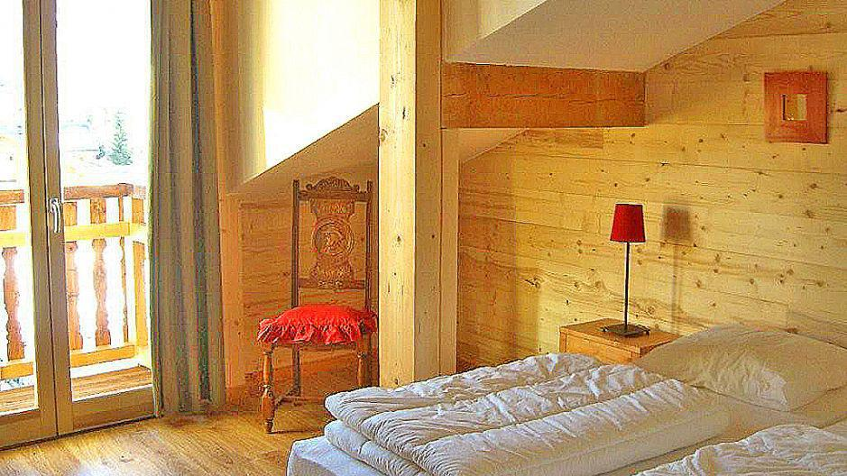 Skiverleih Chalet Balcons Acacia - Saint Martin de Belleville - Schlafzimmer