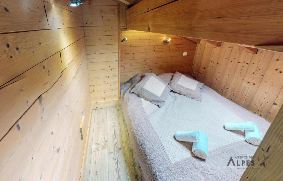 Skiverleih 10 Zimmer Chalet für 18 Personen (LET) - Chalet de la Villette - Saint Martin de Belleville - Offener Schlafbereich