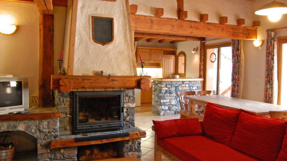 Location au ski Appartement duplex 6 pièces 10 personnes - Chalet Gremelle - Saint Martin de Belleville - Cheminée
