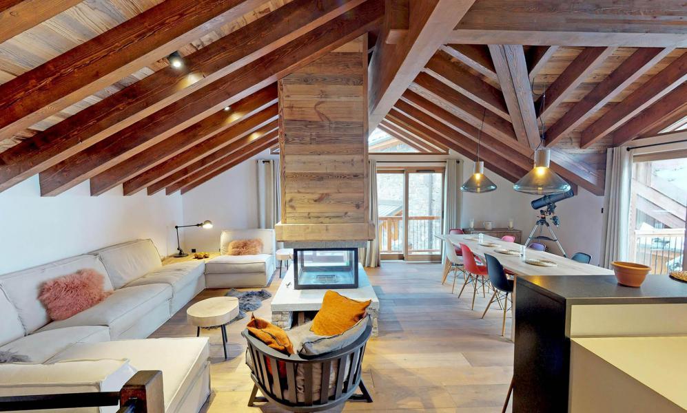 Location au ski Chalet 6 pièces 10-12 personnes - Chalet l'Etable - Saint Martin de Belleville - Séjour