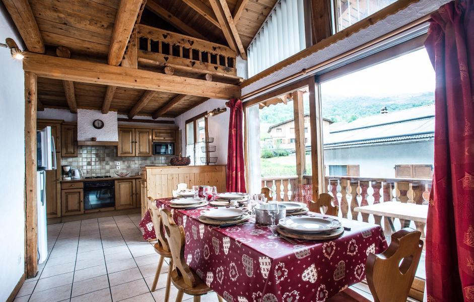 Location au ski Chalet Loutantin - Saint Martin de Belleville - Coin repas