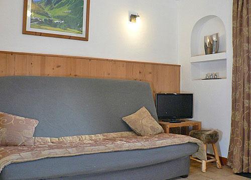 Location au ski Appartement 2 pièces 4 personnes - Chalet Marmottes - Saint Martin de Belleville - Canapé