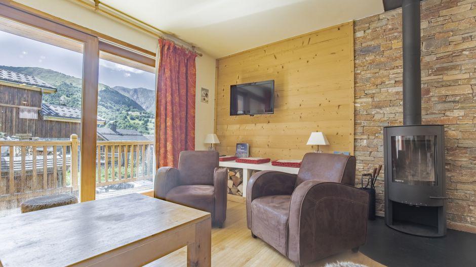 Аренда на лыжном курорте Chalet Marmottes - Saint Martin de Belleville - Камин