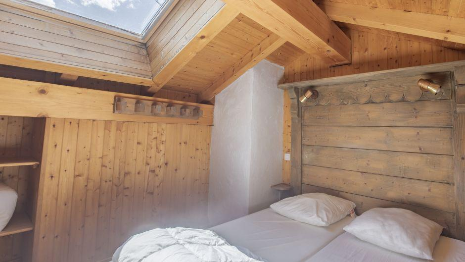Аренда на лыжном курорте Chalet Marmottes - Saint Martin de Belleville - Односпальная кровать