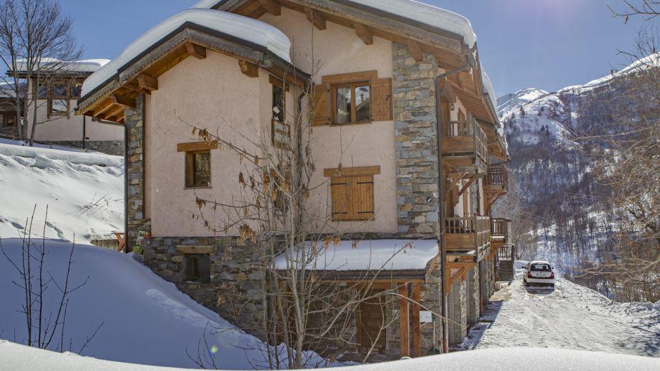 Location au ski Chalet Mimosa - Saint Martin de Belleville - Extérieur hiver