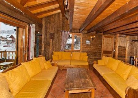 Location au ski Appartement duplex 6 pièces 10 personnes - Chalet Mimosa - Saint Martin de Belleville - Canapé