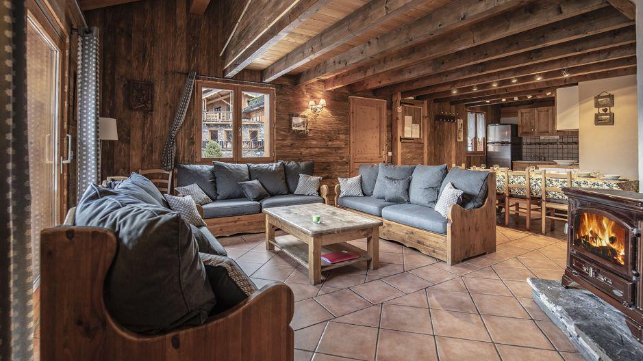 Location au ski Chalet Mimosa - Saint Martin de Belleville - Séjour