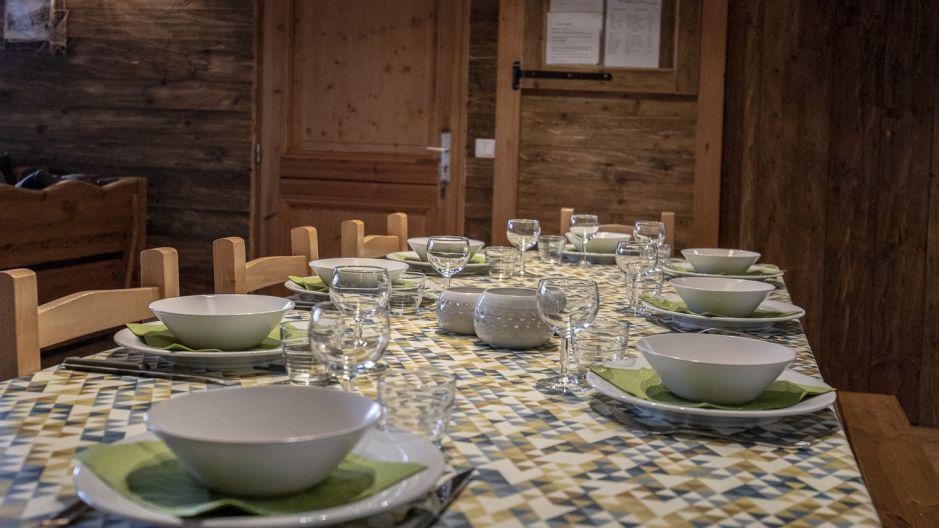 Location au ski Chalet Mimosa - Saint Martin de Belleville - Table