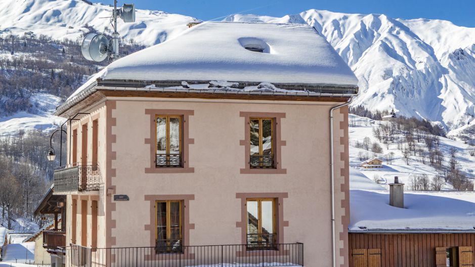 Skiverleih Chalet Oursons - Saint Martin de Belleville - Draußen im Winter