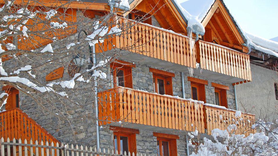 Vacances en montagne Chalet Pépé Martin - Saint Martin de Belleville - Extérieur hiver