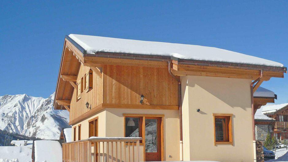 Vacances en montagne Chalet Saint Marc - Saint Martin de Belleville - Extérieur hiver