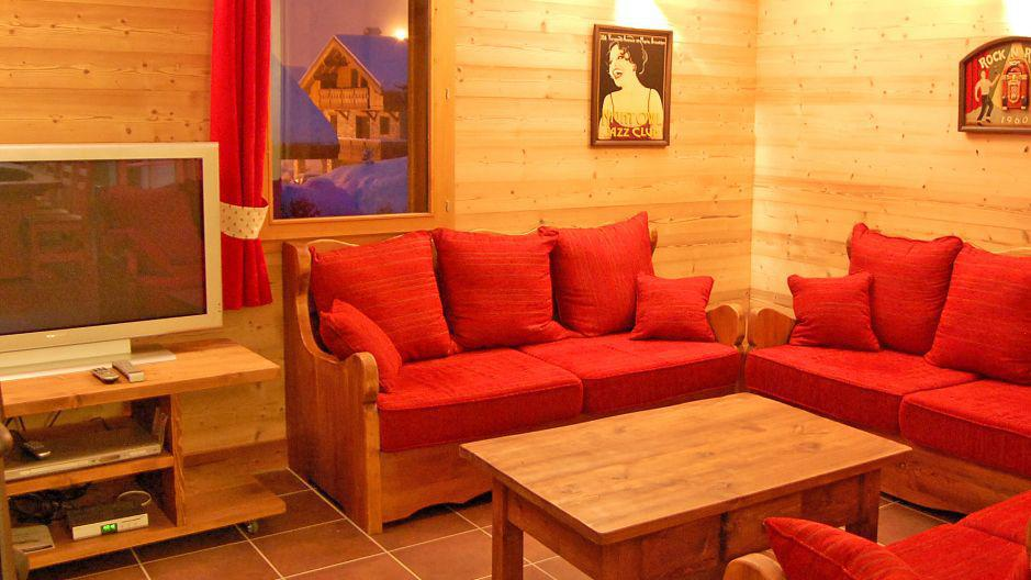 Location au ski Chalet Saint Marc - Saint Martin de Belleville - Canapé