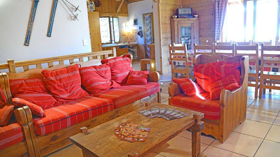 Alquiler al esquí Chalets Violettes - Saint Martin de Belleville - Sofá