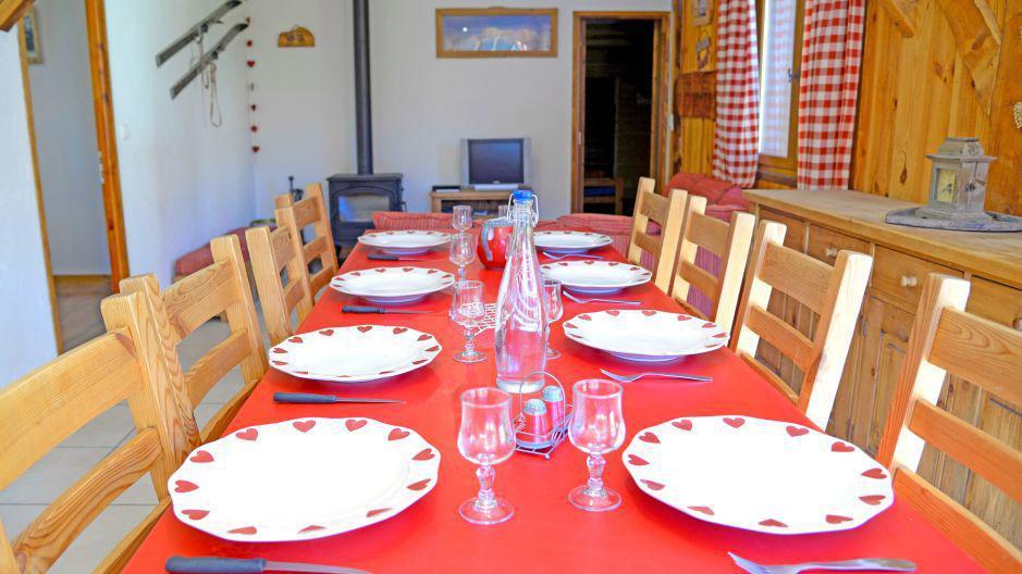 Location au ski Chalets Violettes - Saint Martin de Belleville - Table