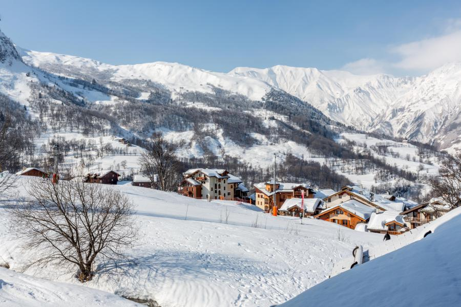 Skiverleih Les Chalets du Gypse - Saint Martin de Belleville - Draußen im Winter