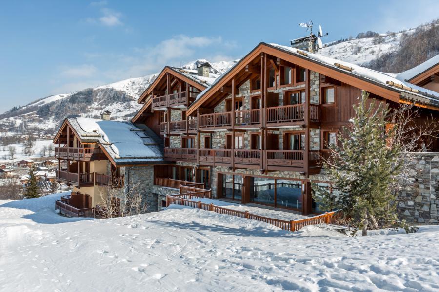 Каникулы в горах Les Chalets du Gypse - Saint Martin de Belleville - зимой под открытым небом