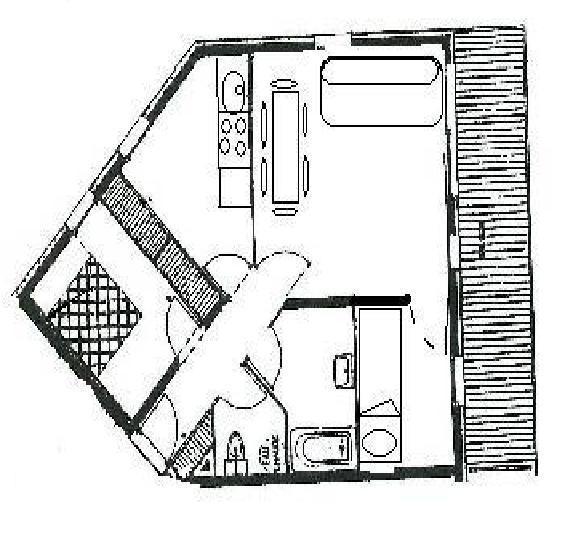 Wynajem na narty Apartament 2 pokojowy kabina 6 osób (B6) - Résidence Balcons de Tougnette - Saint Martin de Belleville