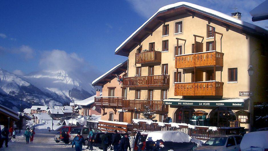 Vacances en montagne Résidence la Voute - Saint Martin de Belleville - Extérieur hiver