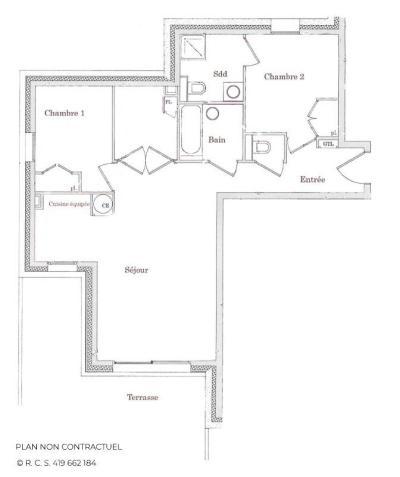 Location au ski Appartement 4 pièces 6 personnes (12) - Chalet Adele - Saint Martin de Belleville - Plan