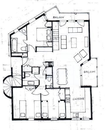 Location au ski Chalet duplex 5 pièces 12 personnes - Chalet des Encombres - Saint Martin de Belleville - Salle de bains