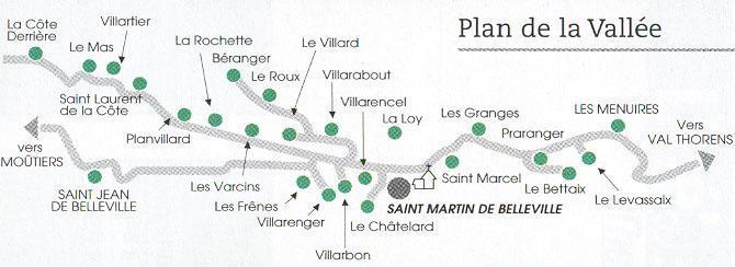 Location au ski Chalet Romanee - Saint Martin de Belleville - Plan