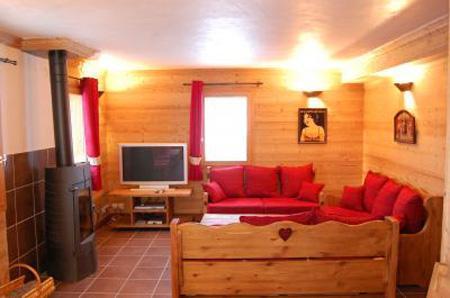 Location au ski Chalet Saint Marc - Saint Martin de Belleville - Poêle à bois