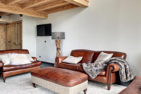 Rent in ski resort 4 room triplex chalet 6 people (Carcosa) - Le Hameau de Caseblanche - Saint Martin de Belleville - Living room