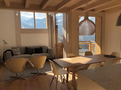 Rent in ski resort 4 room triplex chalet 6 people (Retreat) - Le Hameau de Caseblanche - Saint Martin de Belleville - Living room