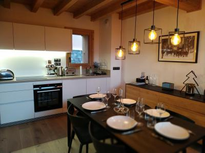 Rent in ski resort 4 room triplex chalet 6 people (Selini) - Le Hameau de Caseblanche - Saint Martin de Belleville - Kitchen