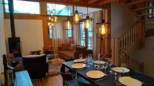 Rent in ski resort 4 room triplex chalet 6 people (Selini) - Le Hameau de Caseblanche - Saint Martin de Belleville - Living room