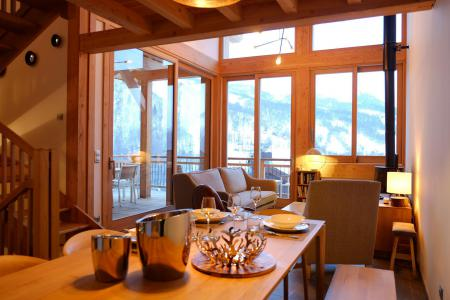 Rent in ski resort 5 room triplex chalet 8 people (Eceel) - Le Hameau de Caseblanche - Saint Martin de Belleville - Living room