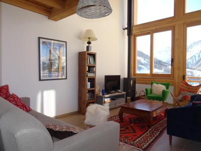Rent in ski resort 5 room triplex chalet 8 people (Pomme de Pin) - Le Hameau de Caseblanche - Saint Martin de Belleville - Living room