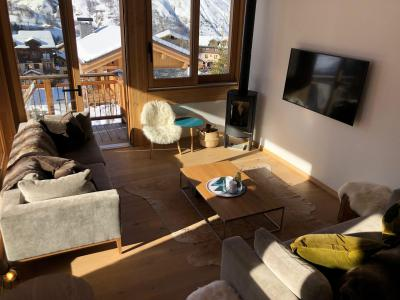 Rent in ski resort 5 room triplex chalet 8 people (Retrouvailles) - Le Hameau de Caseblanche - Saint Martin de Belleville - Living room