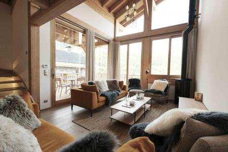 Rent in ski resort 5 room triplex chalet 8 people (Winterfold) - Le Hameau de Caseblanche - Saint Martin de Belleville - Living room