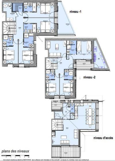Rent in ski resort 8 room triplex chalet 16 people (Litote) - Le Hameau de Caseblanche - Saint Martin de Belleville - Plan