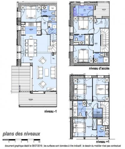 Rent in ski resort 7 room triplex chalet 12 people (Tawny) - Le Hameau de Caseblanche - Saint Martin de Belleville - Plan