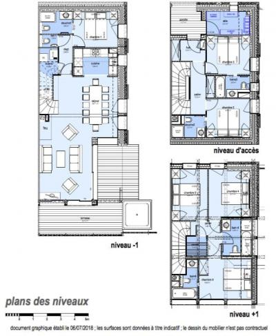 Rent in ski resort 7 room triplex chalet 12 people (Myriel) - Le Hameau de Caseblanche - Saint Martin de Belleville - Plan
