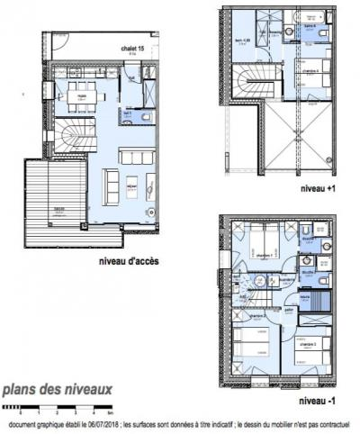 Rent in ski resort 5 room triplex chalet 8 people (Pomme de Pin) - Le Hameau de Caseblanche - Saint Martin de Belleville - Plan