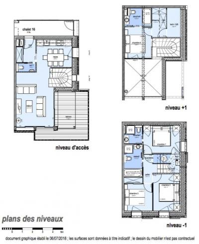 Rent in ski resort 5 room triplex chalet 8 people (Retrouvailles) - Le Hameau de Caseblanche - Saint Martin de Belleville - Plan